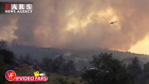 آتشسوزی گسترده در جنگلهای یونان