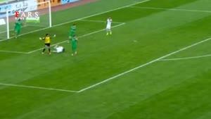 گل سوم تیم ملی فوتبال ایران در مقابل ترکمنستان