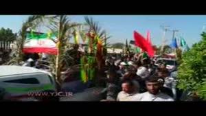 تشییع پیکر مطهر ۵ شهید دفاع مقدس در خوزستان