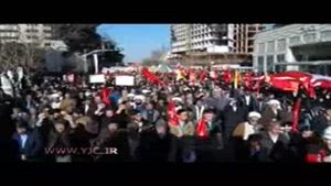 راهپیمایی مردم مشهد در سالروز حماسه ۹ دی
