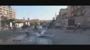 حلب موشک باران شد