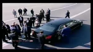 خودروی شخصی پوتین در فرودگاه مهرآباد
