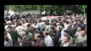 تشییع پیکر شهید مدافع حرم در مازندران