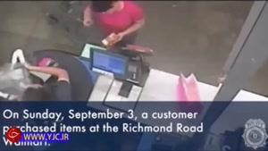 حرکت بیشرمانه یک پیرزن در فروشگاه