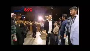 شکوه حضور شبانه مردم ارومیه در پای صندوق های رای