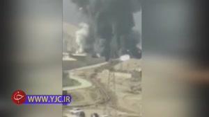 فیلم آتش سوزی ایستگاه پمپاژ نفت شرکت درهنی