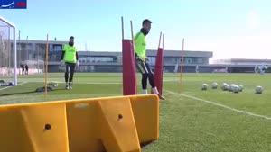 فیلم/ تمرین جالب دروازهبانهای رئال مادرید