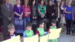 فیلم/همبستگی زنان و کودکان السویداء با ساکنان حلب