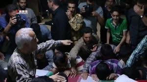 وداع جانسوز خانواده شهید مدافع حرم