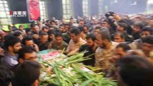 وداع سوزناک با شهید مدافع حرم/ پیکر شهید قدیر سرلک