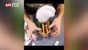 یک کاربرد غیرمنتظره برای مدادهای رنگی
