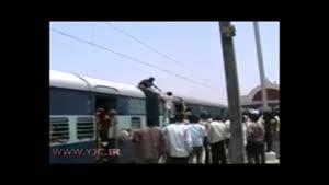 برق گرفتگی مرگبار و جزغاله شدن یک مرد روی واگن های قطار