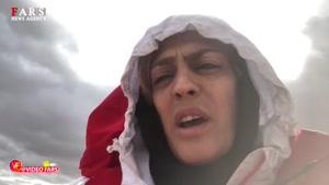گزارش شهربانو منصوریان از وضعیت منطقه محل سقوط هواپیمای تهران-یاسوج