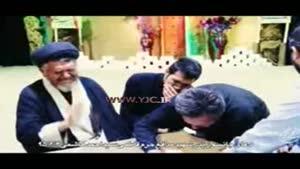 وداع جانسوز پدر شهید مدافع حرم سید احمد هاشمی