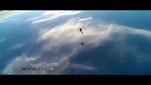 توپ بازی چتربازان در آسمان