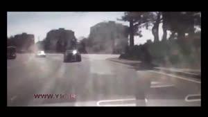 تصادف هولناک، عاقبت سرعت زیاد موتورسیکلت