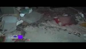 ویرانی یک خانه در نوبران پس از اصابت رعد و برق