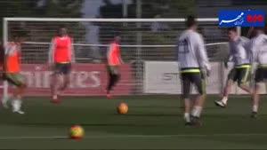 فیلم/ تمرین تیم فوتبال رئال مادرید قبل از دیدار با ایبار