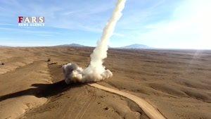 فیلم لحظه شلیک سامانه موشکی «تلاش» به سمت اهداف هوایی