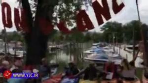 اعتراض فعالان محیط زیست به ارتش آمریکا