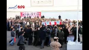 فیلم/ تشییع پیکر هفتمین شهید مدافع حرم در رشت