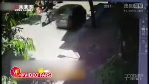 زیر گرفتن موتورسوار توسط راننده زن