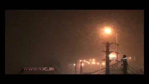 بارش شدید برف در استان البرز