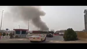 فیلم/ آتش سوزی در  یکی از برجهای دبی