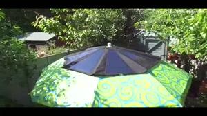 شارژ موبایل با چتر آفتابی