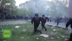 درگیری شدید پلیس برلین و مردم