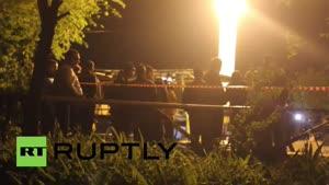 فیلم/ انفجار اتوبوس در ارمنستان