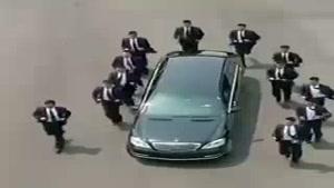 اسکورت عجیب خودروی «اون» بعد از دیدار با رئیسجمهور کره جنوبی