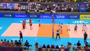خلاصه والیبال ایران ۳ - کره جنوبی ۱