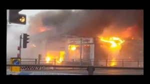آتش سوزی در کارخانه آتش بازی