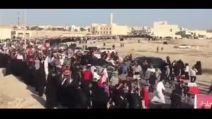 فیلم/تشییع پیکر شهید «علی عبدالغنی» شهید بحرینی