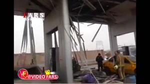 انفجار پمپ گاز در جاده قدیم تهران - کرج