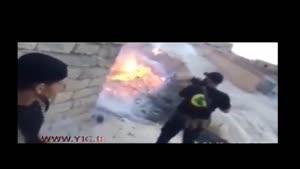ابوعزرائیل داعشی ها را به رگبار گلوله بست