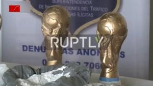 کشف ۲۰۰ کیلو کوکائین و ماریجوانا از کاپ جام جهانی!