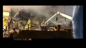 ادامه دود و آتش در ساختمان پلاسکو