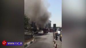 جزئیات آتش سوزی در پاساژ کوروش تهران