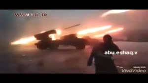 موشک باران مواضع تروریستها توسط ارتش و نیروهای مردمی سوریه