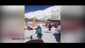 سقوط دختر اسکیباز از تلهسییژ دربندرسر