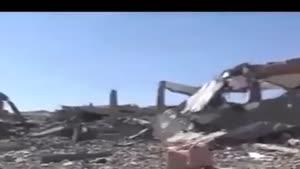 فیلم/یورش جنگنده های سعودی به بیمارستان ها در یمن