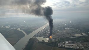 فیلم/انفجار در کارخانه ای در جنوب آلمان