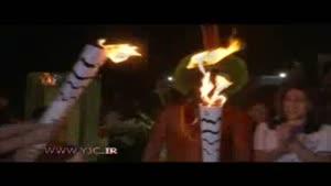 حمل مشعل المپیک با خر!