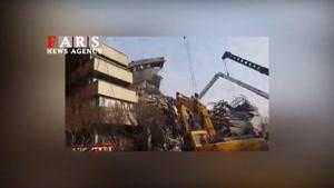 جدیدترین تصاویر حادثه ساختمان پلاسکو