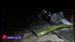نخستین فیلم از صحنه سقوط و واژگونی اتوبوس محور کرج - ساری به دره