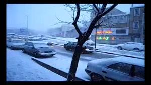 فیلم/ بارش برف در کردستان