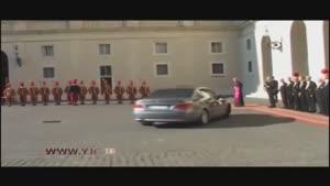استقبال رسمی پاپ از رئیس جمهور