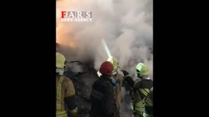 نبرد جانانه آتشنشانان با مواد مذاب